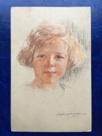 """Cpa--""""Portrait Crayonné Jeune Fille""""--(my Ref 362) - Illustrateurs & Photographes"""