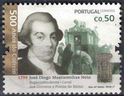 Portugal 2017 Oblitéré Used José Diogo Mascarenhas Neto Administrateur Services Postaux SU - 1910 - ... Repubblica