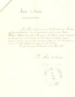 Vieux Papier Du Béarn, Saubole, 1891, Certificat Du Maire, Pucheu-Lassus De Seron Possède 2 Ha - Historische Documenten