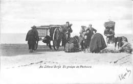 Au Littoral Belge - Un Groupe De Pêcheurs (animée 1904) - Belgien