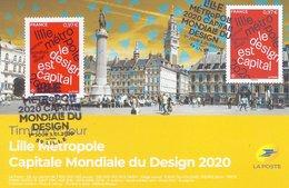 Lille Nord 59 Carte Maximum FDC Premier Jour - Lille Metropole 2020 - Design Is Capital - Cartes-Maximum
