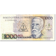 Billet, Brésil, 1 Cruzado Novo On 1000 Cruzados, 1988, Undated (1988), KM:216b - Brazil