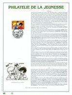 Belgique 1997 : FEUILLET D'ART EN OR 23 CARATS.Timbre Numéro 2707 / Jommeke (gouden Embossing) / Genummerde Kaart - Cartes Illustrées