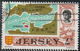 Jersey 1971 Yv. N°35 - Carte De La Manche - Oblitéré - Jersey