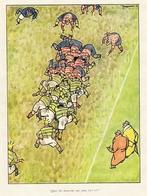 RUGBY Dessin Couleur Anglais De Fougasse  De 1944 - Rugby