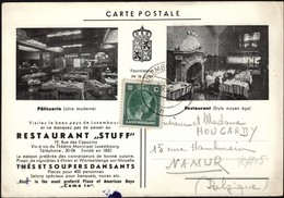 Luxemburg - Advertising Postcard, RESTAURANT 'STAFF' - LUXEMBURG, 3.9.1947. - Lussemburgo