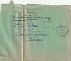 """Env. De """"Périgueux RP - 24, Dordogne"""" Du 07-04-1970, PP Journaux (pli Marqué) - Poststempel (Briefe)"""