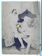 PHOTO ALBUMINEE SEPIA  SUR PAPIER MINCE   FIN XIX - DEBUT XXeme EROTIQUE  PORNO FEMININ  NU NUDE Dim.:9.20X12.40cm - Belleza Feminina (...-1920)