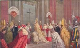 Pope Pius XI Before Porta Santa In S. Pietro, C1920s/30s Vintage Postcard - Popes