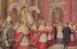 Artist Image Pope Pius XI Basilica Saint Peter, C1920s/30s Vintage Postcard - Popes