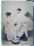 PHOTO ALBUMINEE SEPIA  SUR PAPIER MINCE   FIN XIX - DEBUT XXeme EROTIQUE  PORNO FEMININ  NU NUDE Dim.:9.20X12.50cm - Belleza Feminina (...-1920)