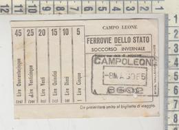 Biglietto Ticket Ferrovie Dello Stato Soccorso Invernale - Bus