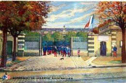 CPA   - Caserne Xaintrailles  Bordeaux  , Colorisée  -  Neuve - Casernes