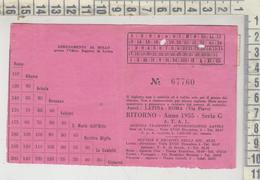 Biglietto Ticket  Abbonamento 1955 Latina - Roma  A.t.a.l. - Bus