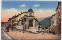 ST. IMIER Bahnhofstrasse Rue Du Chemin De Fer Pferde-Fuhrwerk - JU Jura