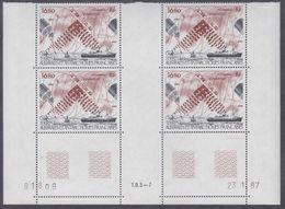 """TAAF P.A. N° 99 XX Satellite """"Inmarsat"""" En Bloc De 4 Coin Daté Du 23.1.87 à 60 % De La Faciale, Ss Ch, TB - Unused Stamps"""