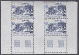 """TAAF P.A. N° 98 XX Prog. Forage Océanique"""" En Bloc De 4 Coin Daté Du 21.10.86 à 60 % De La Faciale, Ss Ch, TB - Unused Stamps"""