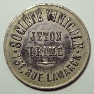 Société Vinicole - Jeton Prime - Monetari / Di Necessità