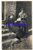 127749 CROATIA SIBENIK COSTUMES WOMAN'S SPINNING CIRCULATED TO ARGENTINA POSTAL POSTCARD - Kroatien