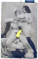 PHOTO ALBUMINEE SUR PAPIER CARTE POSTALE DEBUT XXeme EROTIQUE  PORNO FEMININ  NU NUDE Dim.:8.70X13.70cm VOYEZ SCAN - Belleza Feminina (...-1920)