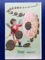 "Gaufrée-Embossed-""Ange Dompteur ""-(my Ref 371)-1907 - Angels"