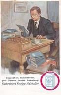 AK Werbung Kathreiners Kneipp Malzkaffee - Kaffee Schreibtisch Akten Arbeit (46390) - Werbepostkarten