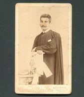 1899 Fotografia Antiga ESTUDANTE De COIMBRA Joao Martins De Freitas, Natural GUIMARAES, Padre Em Caldelas PORTUGAL - Oud (voor 1900)