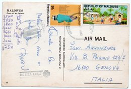 MALDIVES - GEM OF AN ISLAND / THEMATIC STAMP-COSTUMES / EDUCATION - Maldiven