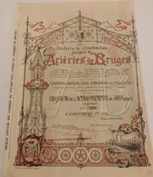Titre Ancien - Société Anonyme Des Ateliers De Contruction, Forges & Aciéries De Bruges - Titre De 1896 Déco - VF - Industrie