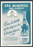 Spa Monopole Eaux Minérales - Eau De Table Et De Régime Des Arthritiques - Belgique - Buvards, Protège-cahiers Illustrés