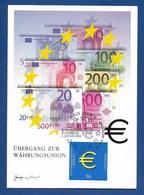 BRD 2002  Mi.Nr. 2234 , Einführung Der Euro-Münzen + Banknoten - Maximum Card - Berlin Zentrum Erstausgabe 10.01.2002 - [7] Repubblica Federale
