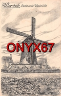 WERVIK-WERVICQ-WERVICK(Belgique-Flandern) Windmühle-Mühle-Moulin-Molen-Mill-Dessin-Illustrateur-Feldpost 2 SCANS - - Wervik