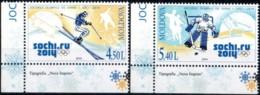 """Moldova 2014 """"Winter Olympic Games, Sochi - 2014 """" 2v Quality:100% - Moldavie"""