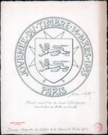 FRANCE Epreuves D'Artiste MAQ - (940), Maquette Originale (180x180) à L'encre De Chine Du Cachet Illustré De La Journée - Epreuves D'artistes