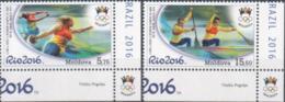 """Moldova 2016 """"XXXI Summer Olympic Games. Rio De Janeiro"""" 2v Quality:100% - Moldavie"""