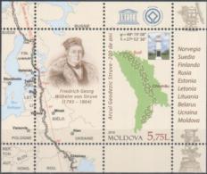 "Moldova 2016 ""UNESCO.200th Anniversary Of The Struve Geodetic Arc"" SS Quality:100% - Moldavie"