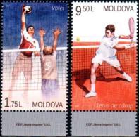 """Moldova 2017 """"Sport. Volleyball & Tennis"""" 2v Quality:100% - Moldavie"""