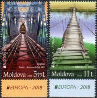 """Moldova 2018. Europa - CEPT """"Bridges"""" 2v Quality: 100% - Moldavie"""