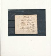 CURSIVE 1842 CACHET BLEU - 1801-1848: Précurseurs XIX