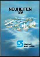 """Catalogue D'aéromodélisme """"SIMPROP ELECTRONIC"""" - Année 1989. - Letteratura & DVD"""