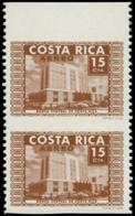 COSTA RICA Poste Aérienne ** - 427, Paire Verticale Bdf, Non Dentelée Horizontal: 15c. Banque - Costa Rica