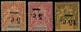 REUNION Poste * - 52a/54a, Surcharge Renversée, Très Frais - Cote: 250 - Réunion (1852-1975)
