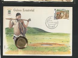GUINEA ECUATORIAL - 10 FRANCS 1985 / /  STAMP - COVER - COIN  / / GEOPHILA 1990 - Guinea