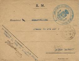 """1916- Envelopp En S M  """" COMMANDEMENT DES TROUPES BELGES DU CAMP DU RUCHARD """" - Krijgsgevangenen"""