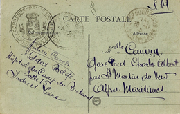 """1916- C P Du Camp Du Richard """" CORRESPONDANCE PRIVEE  *ARMEE BELGE *  """" - Krijgsgevangenen"""