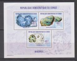 Congo  2002    Block  ** - Mineralien