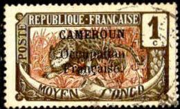 Cameroun Poste Obl Yv: 67/83 Timbres Du Congo Surcharge Cameroun Occupation Française (Belles Oblitérations) - Oblitérés