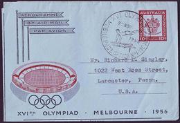 Australia - 1956 Y - Olympic Games 1956 - Aerogram  (gymnastics) - Estate 1956: Melbourne
