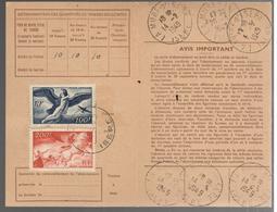 26671 - 2 TP  Poste Aérienne S/carte D'abonnement - 1921-1960: Periodo Moderno
