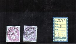 FRANCE PREO  CHARNIERE* - N° 42.43 - 1893-1947